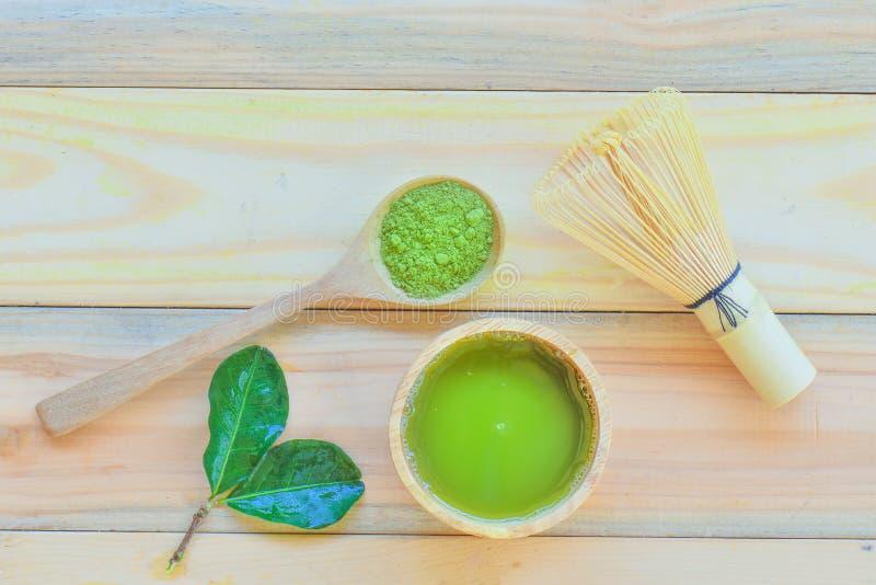 matcha zielona herbata obraz stock