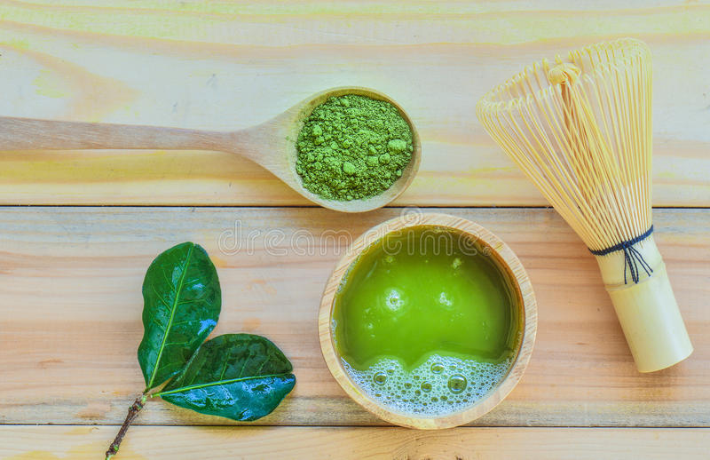 matcha zielona herbata zdjęcie stock