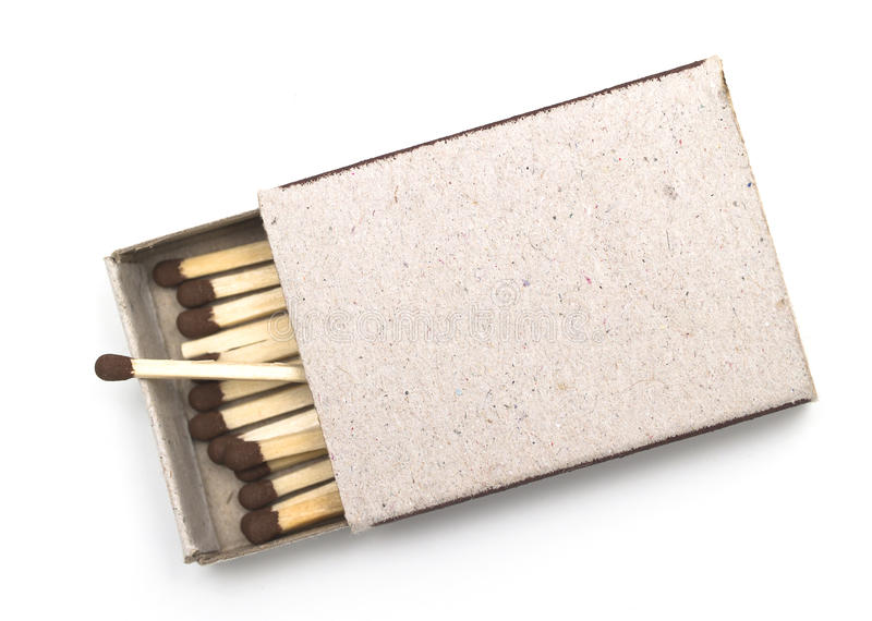 Matchbox. Isolated on the white background royalty free stock photography