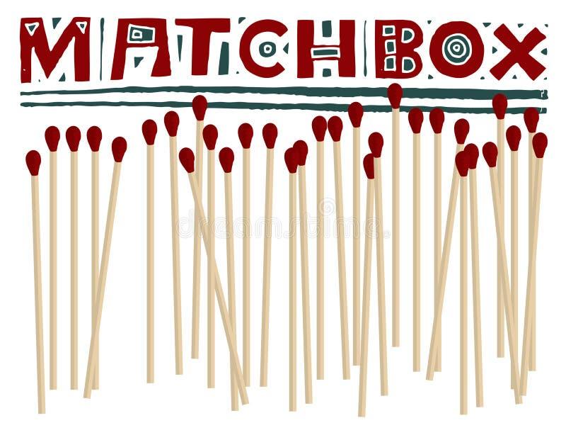 Matchbox Headline Original Woodcut Stock Images