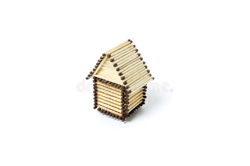 Matchbox house stock photo