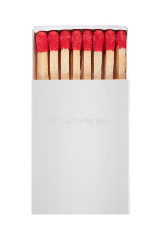 Matchbox. Isolated on white background stock photography