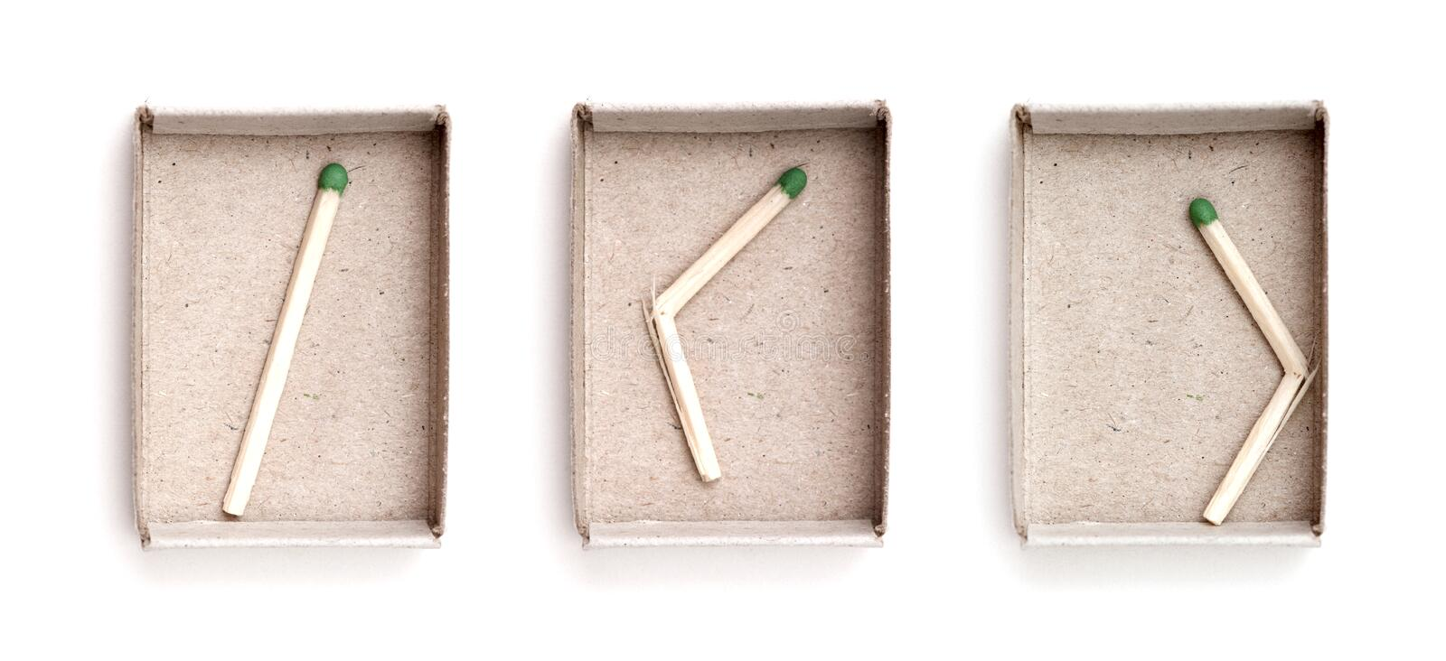 Matchbox and last match royalty free stock photography