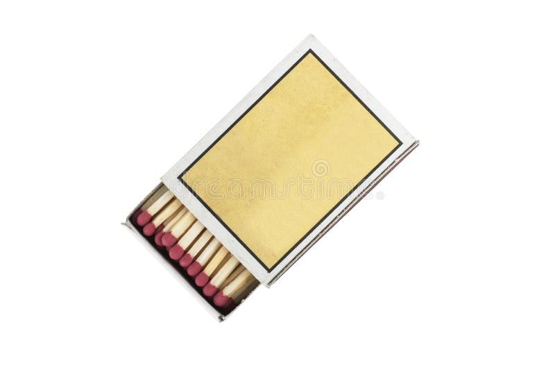 Matchbox and matches isolated royalty free stock photos