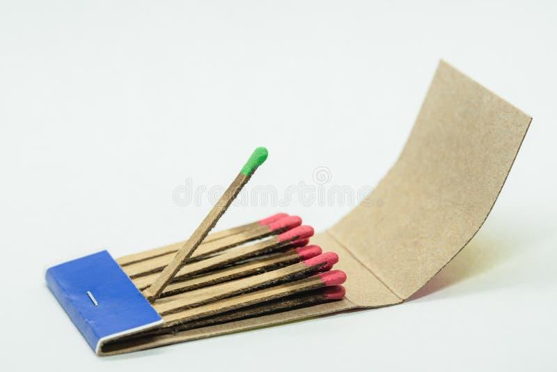 Matchbox odizolowywający na białym tle zdjęcie stock