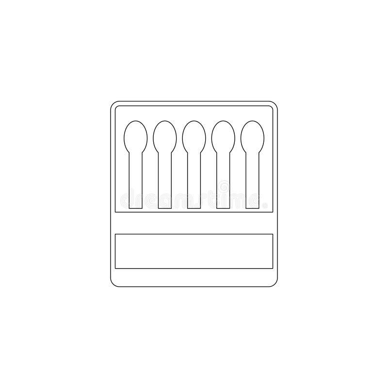 matchbox P?aska wektorowa ikona royalty ilustracja