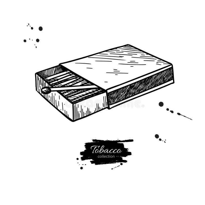 Free Matchbox Vector Drawing. Hand Drawn Matches Box Illustration. Is Royalty Free Stock Photos - 124977998