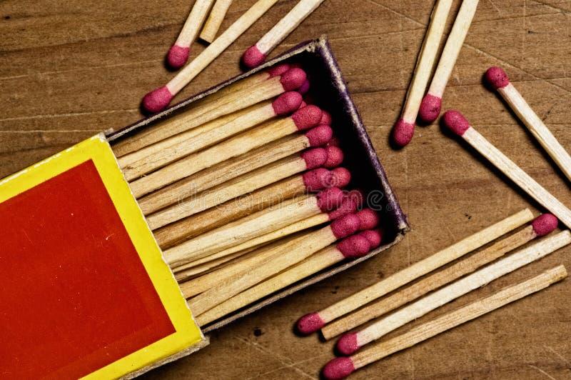 Matches   fotografering för bildbyråer