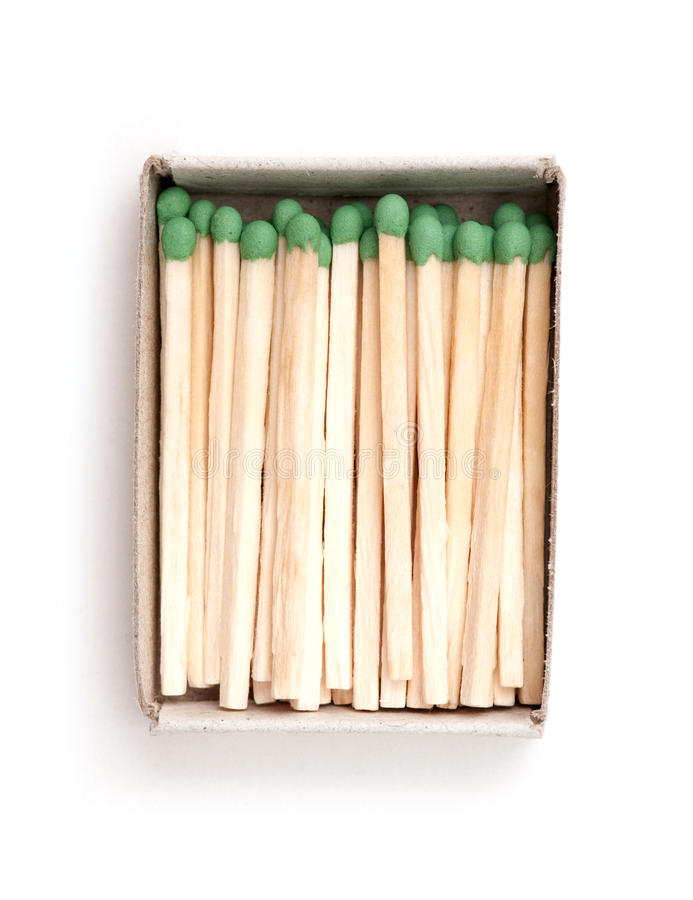 Matches in a box. Illustrating concept of cohesion royalty free stock photo