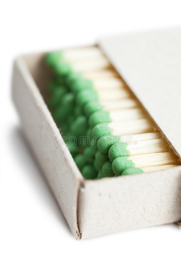 Matches in a box. Illustrating concept of cohesion royalty free stock images