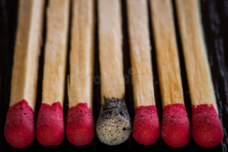 Matches heads royalty free stock photos