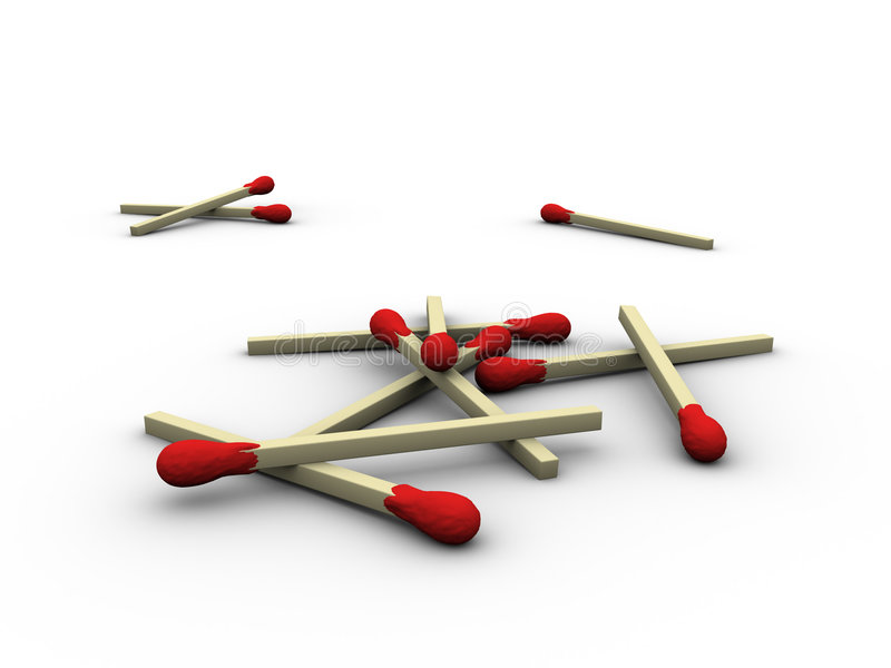 Download Matches Heap Royalty Free Stock Image - Image: 513266