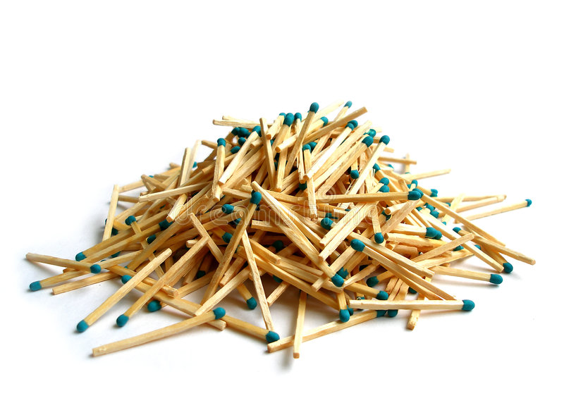 Download Matches heap over white stock photo. Image of disorder - 2502004