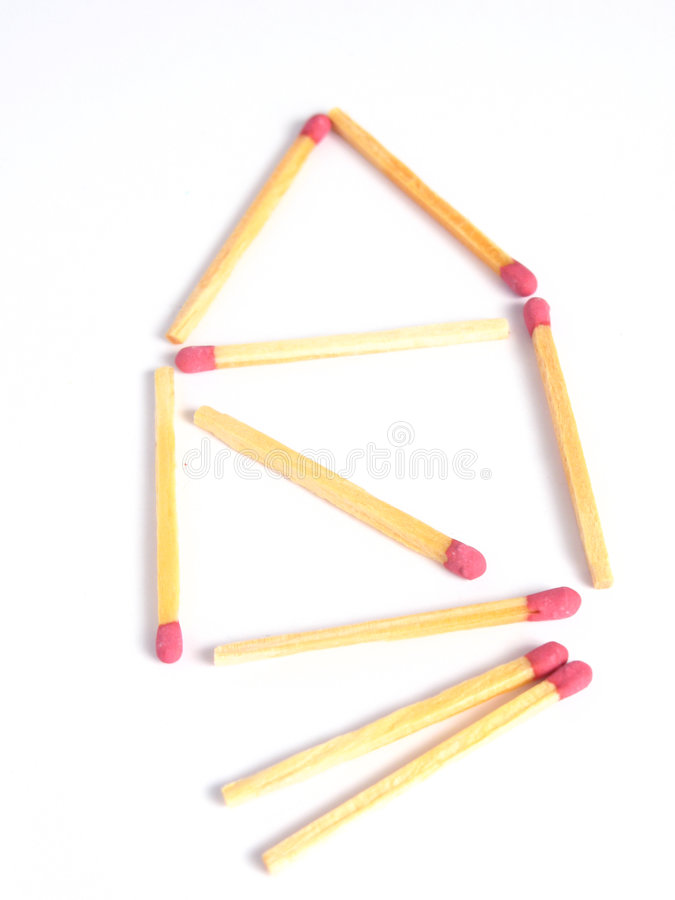 Free Matches House Stock Image - 4509041