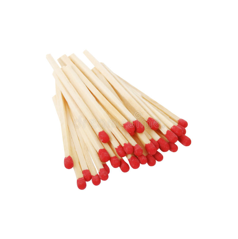 Matches Isolated On White Royalty Free Stock Image