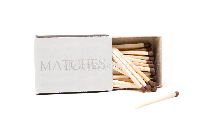 Download Matches in opened box stock image. Image of match, burn - 7552955