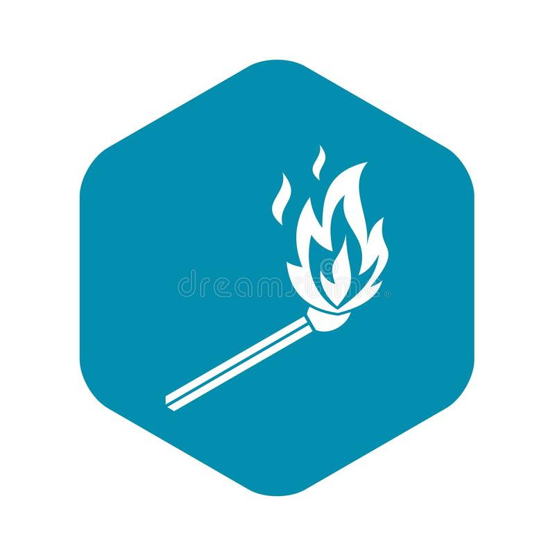 Matchflammenikone, einfache Art vektor abbildung