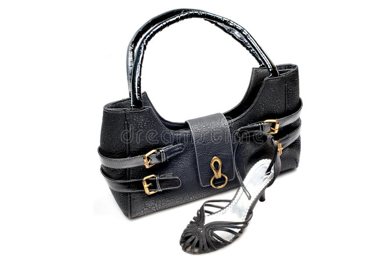 Matching purse and sandals royalty free stock image