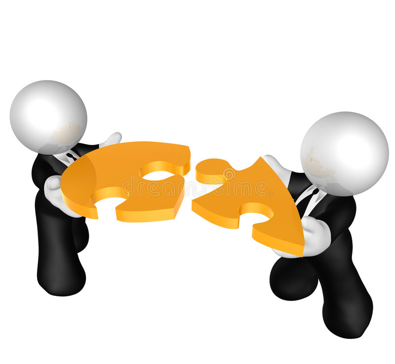 Download Matching The Puzzle Piece Solution Stock Illustration - Image: 8576120