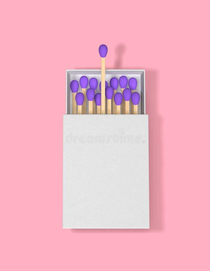 Matchs dans une bo?te d'allumettes Concept de direction d'affaires illustration de vecteur