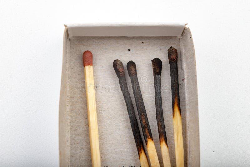 Matchs pour allumer un feu Accessoires dans n?cessaire ? une ferme domestique image stock