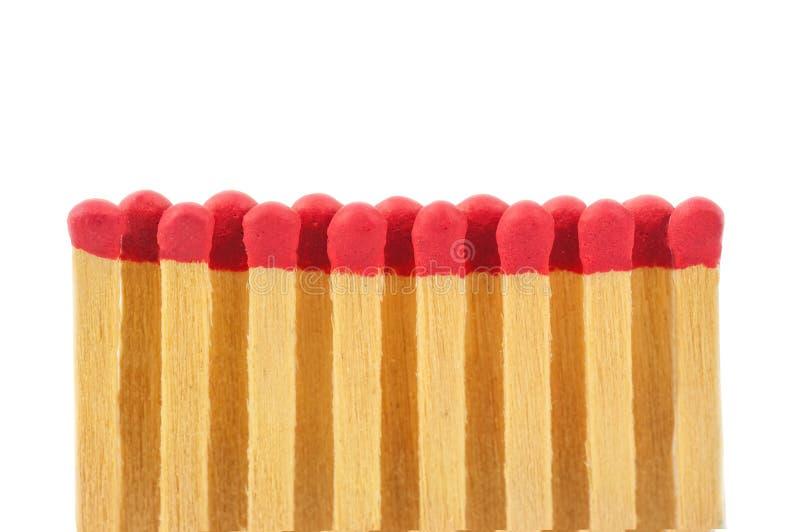Matchs rouges dans une rangée photo libre de droits