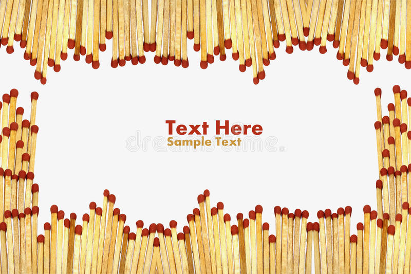 Matchs To Create A Frame  On White Background Stock Images