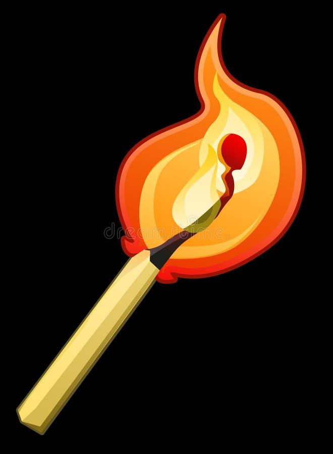 matchstick ilustracji