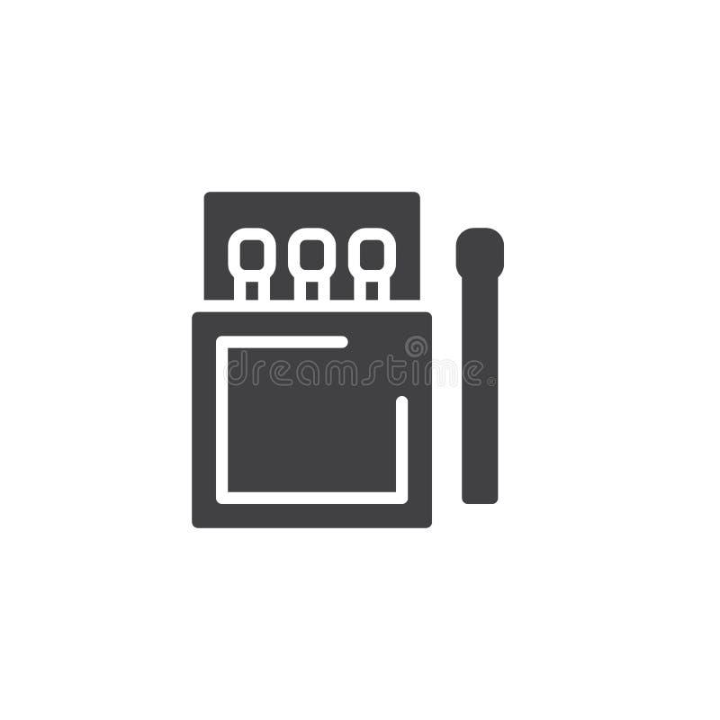 Matchstick i matchbox wektoru ikona ilustracja wektor
