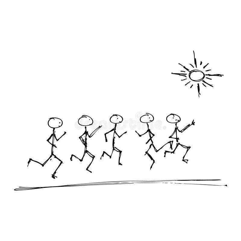 Download Matchstick Mężczyzna Bawić Się W Słońcu Ilustracja Wektor - Ilustracja złożonej z matchstick, pióro: 53781914