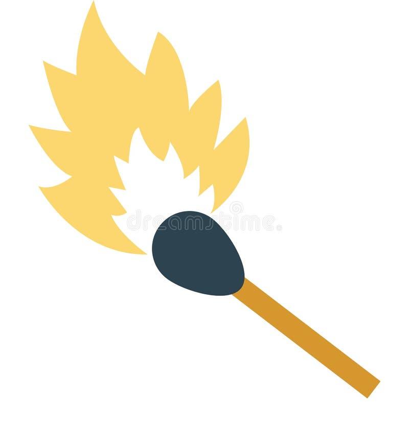 Matchstick Odizolowywał kolor Wektorową ikonę która może łatwo redagować lub modyfikująca royalty ilustracja
