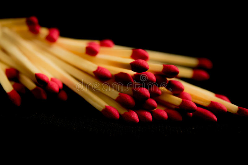 matchsticks stockfotos