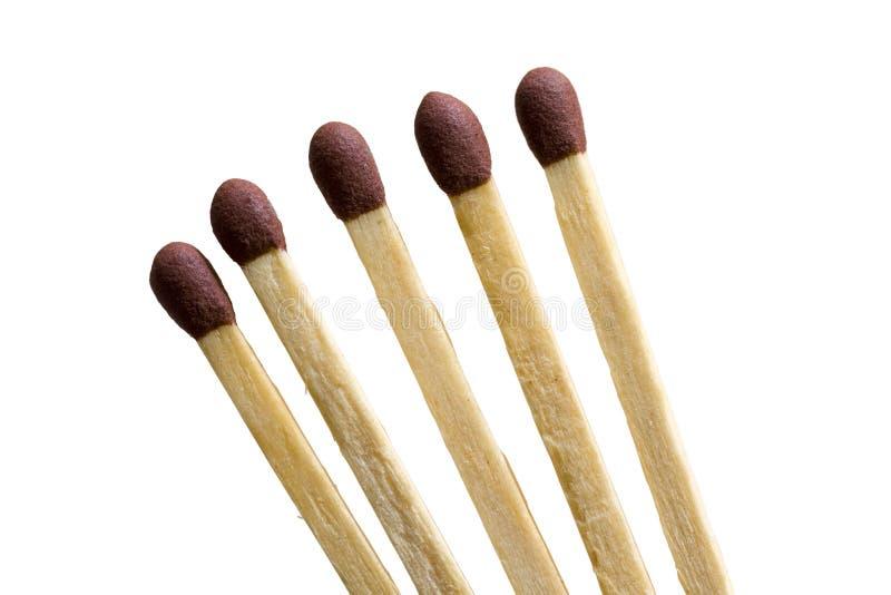 Matchsticks - aislados imágenes de archivo libres de regalías