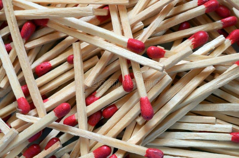 Matchsticks de madera fotos de archivo