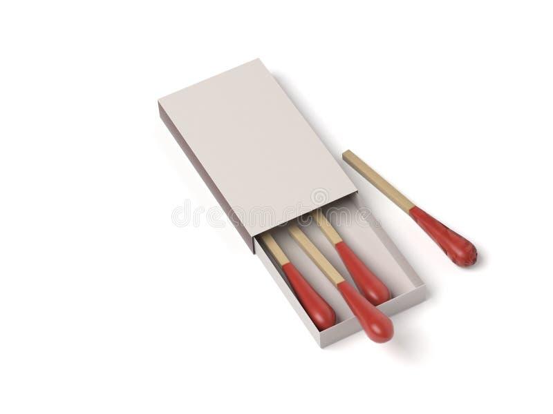 Matchsticks largos ejemplo de la representaci?n 3d aislado libre illustration