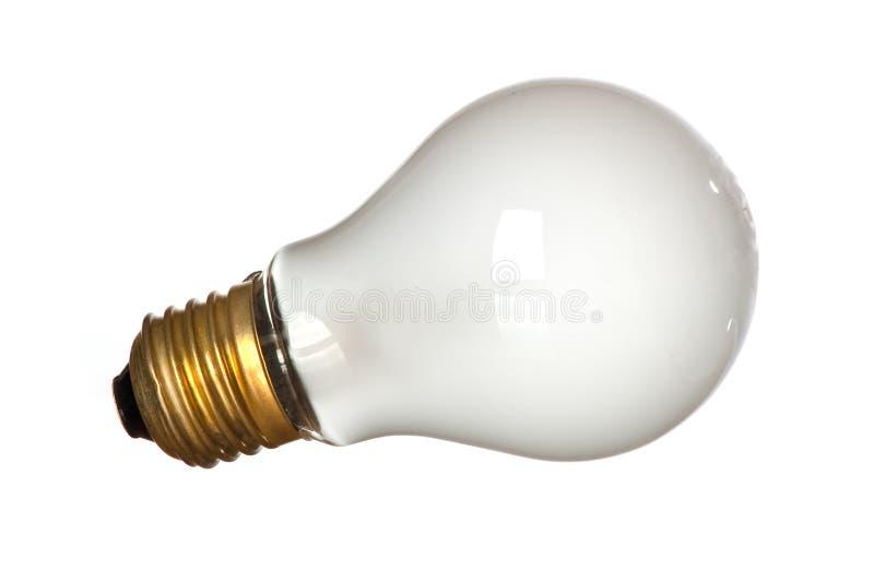 Mate light bulb. Isolated mate light bulb on white background stock photos