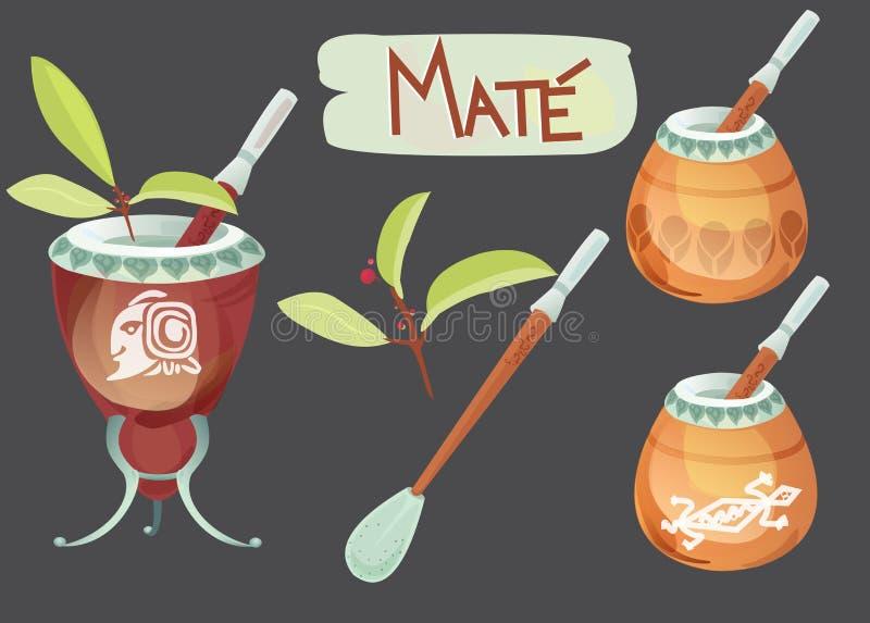 Download Mate tea stock illustration. Image of fresh, national - 30711293