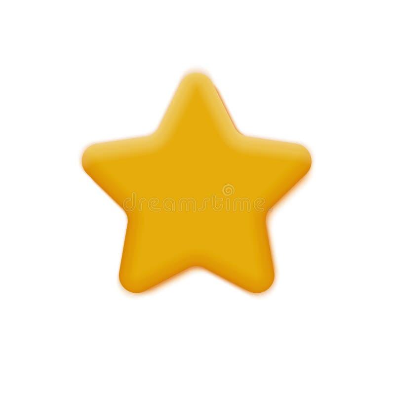 Mate Yellow Star illustrazione vettoriale