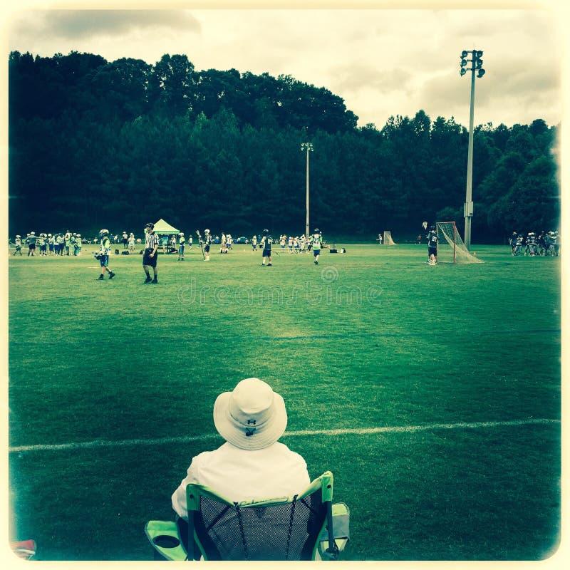Mateczna dopatrywania Lacrosse gra zdjęcie royalty free