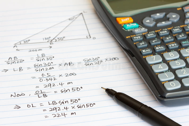 Matemática fotografia de stock royalty free