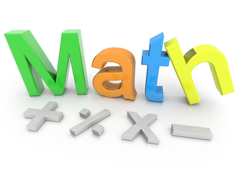 Matemática ilustração do vetor