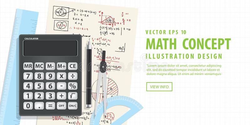 Matemática computacional da bandeira com calculadoras ilustração do vetor