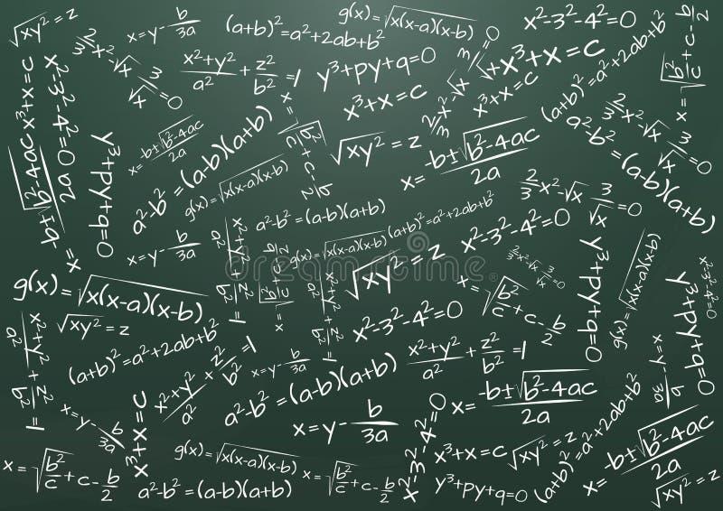 Matemática da fórmula ilustração royalty free