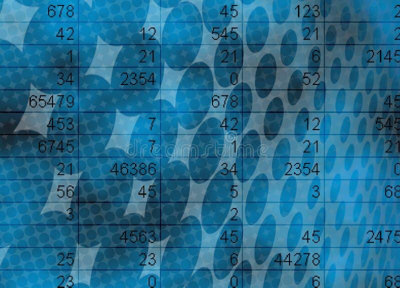 Matemática e conceito das estatísticas ilustração do vetor