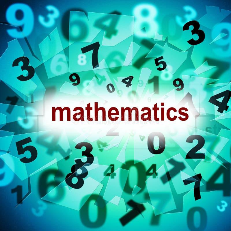 Matemática que conta as mostras uma dois três e tutorias ilustração do vetor