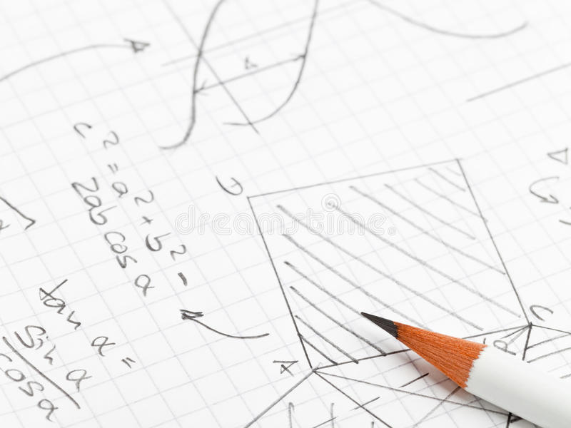 Matemáticas foto de stock
