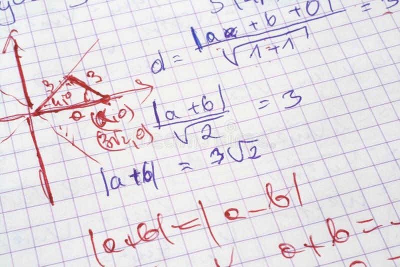 Matemáticas fotos de archivo
