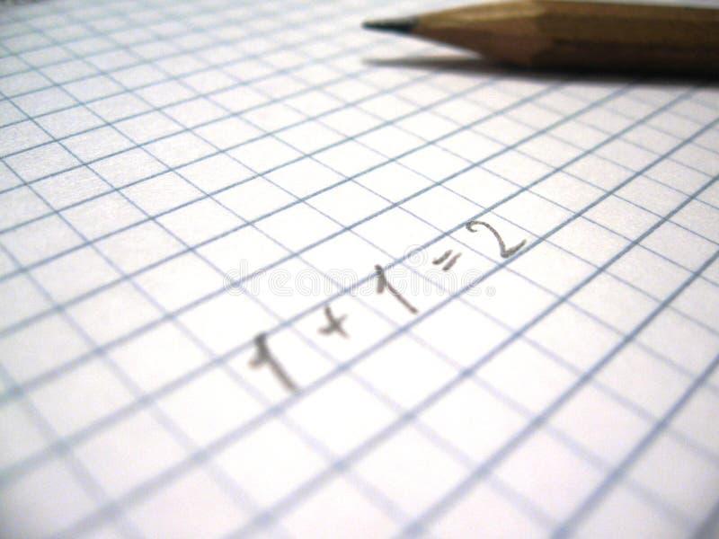 Matemáticas foto de archivo libre de regalías