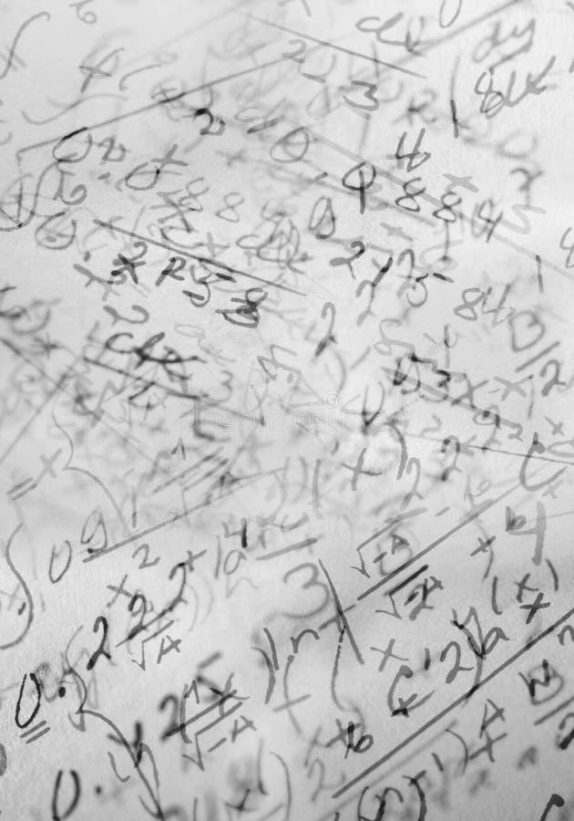 Matemáticas imagens de stock royalty free