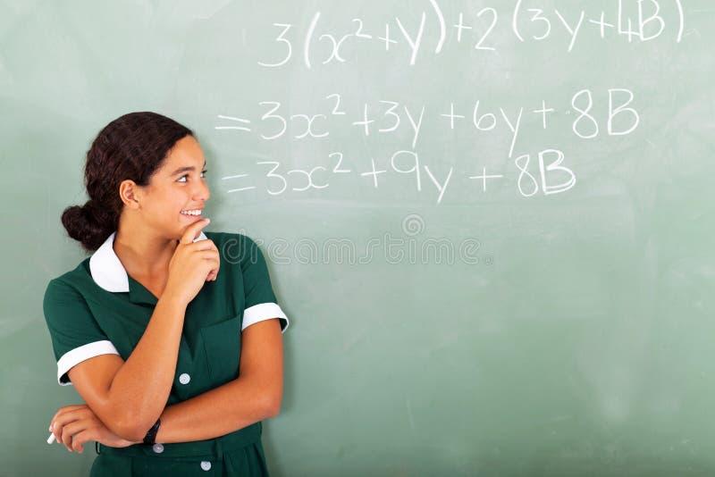 Matemáticas de la High School secundaria foto de archivo libre de regalías